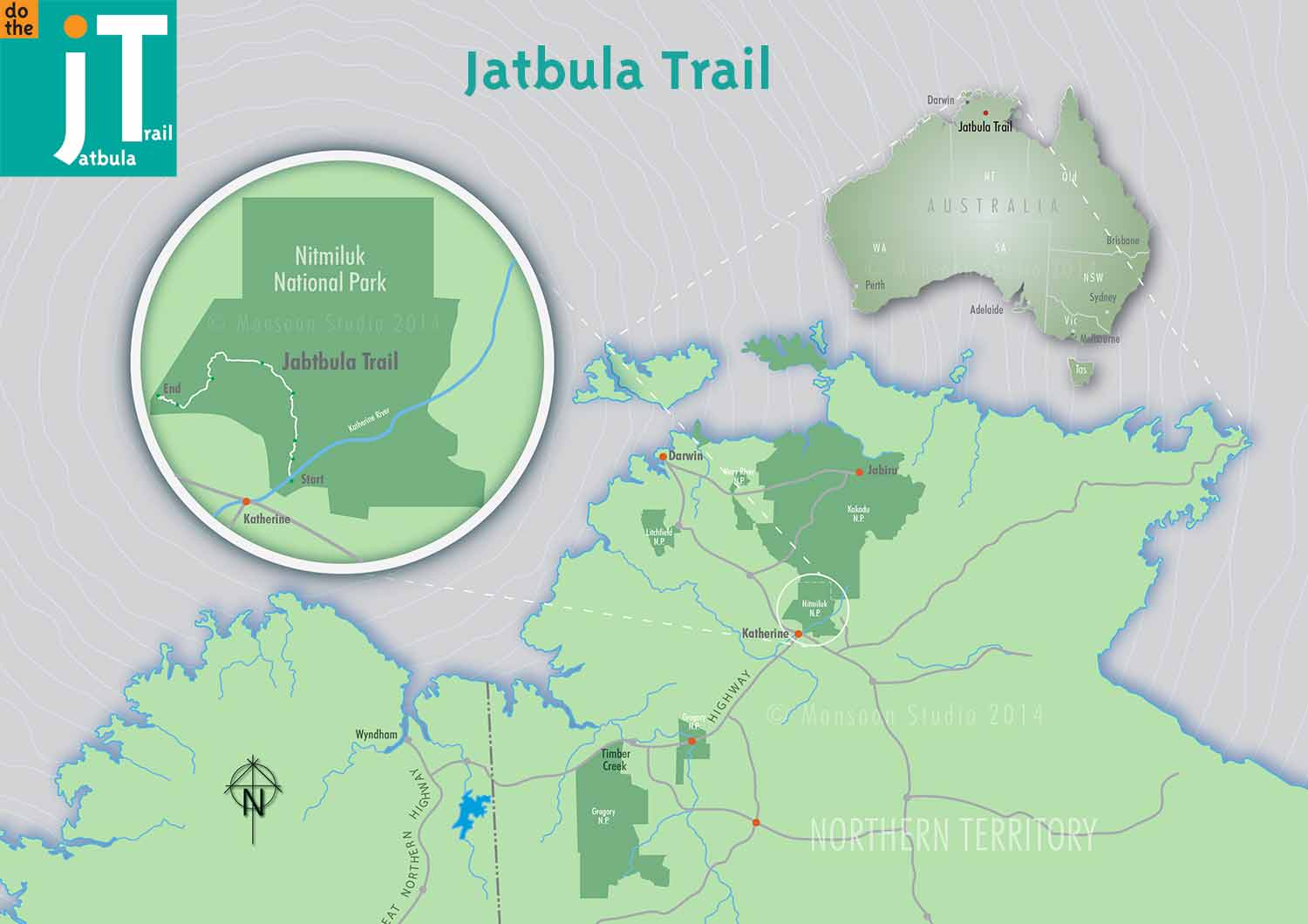 Jatbula Overview Map © Monsoon Studio
